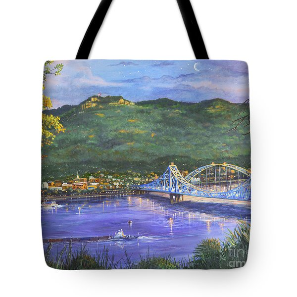 Twilight At Blue Bridges Tote Bag