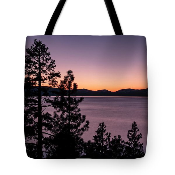 Twilight At Lake Tahoe Tote Bag