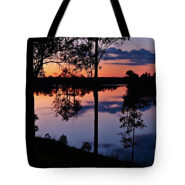 Twilight By The Lake Tote Bag