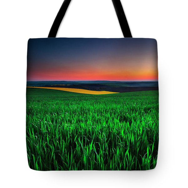 Twilight Fields Tote Bag