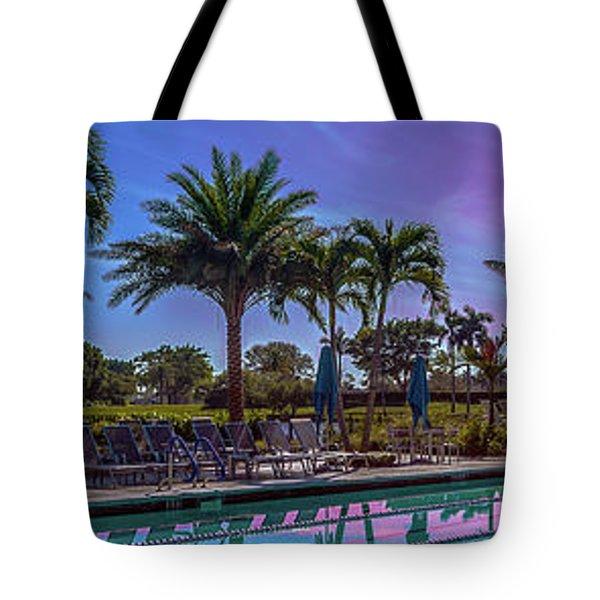 Twilight Pool Tote Bag