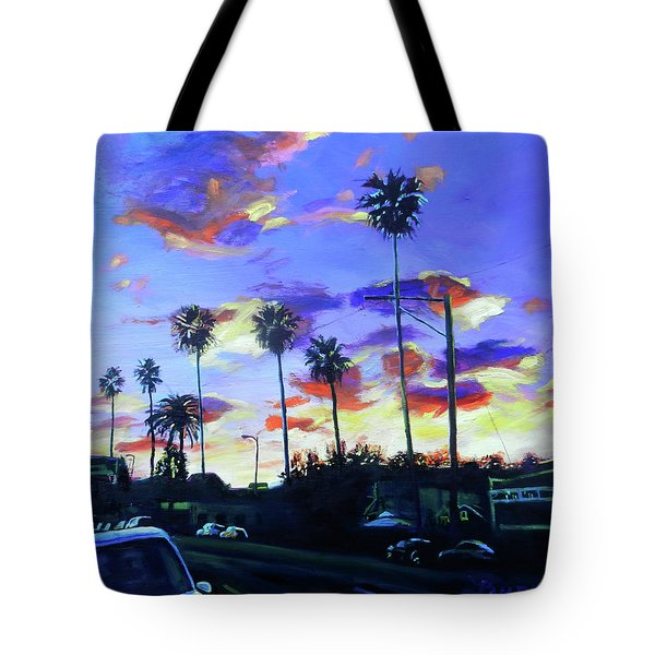 Twilight At Figueroa And 40th  Tote Bag