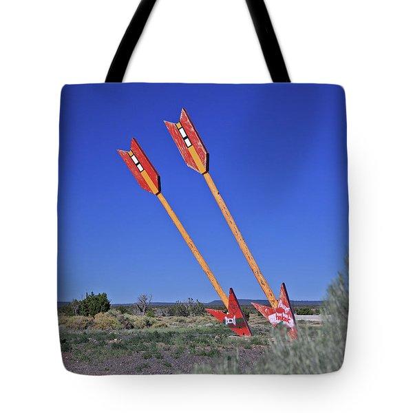 Twin Arrows Tote Bag