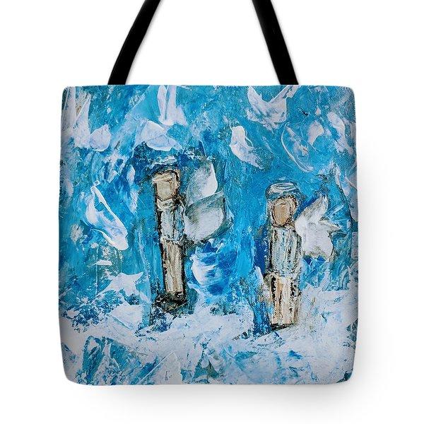 Twin Boy Angels Tote Bag