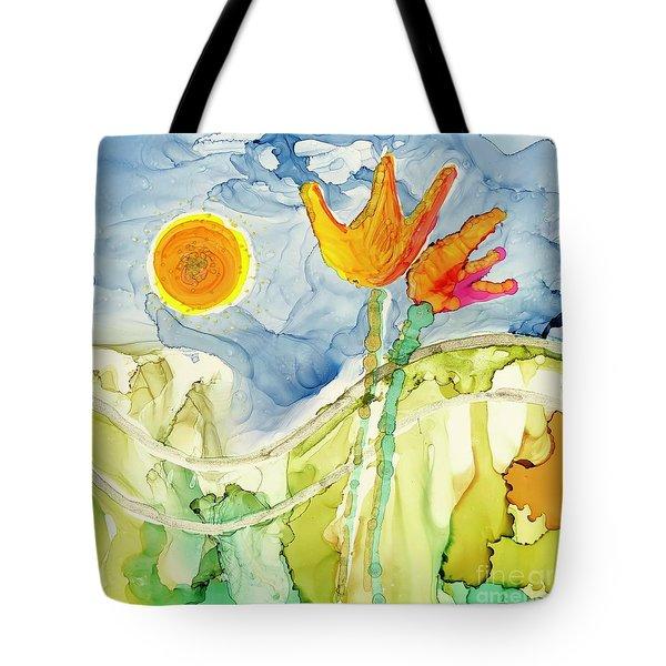 Twin Tulips Tote Bag