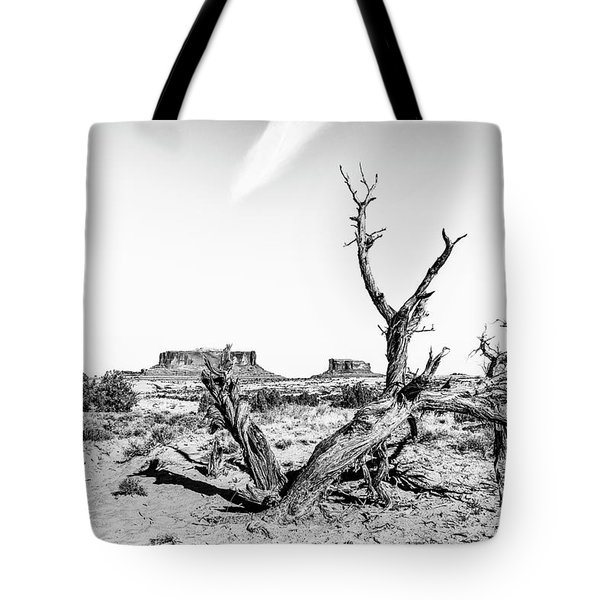 Tote Bag featuring the photograph Twisted Death In The Desert by Andy Crawford