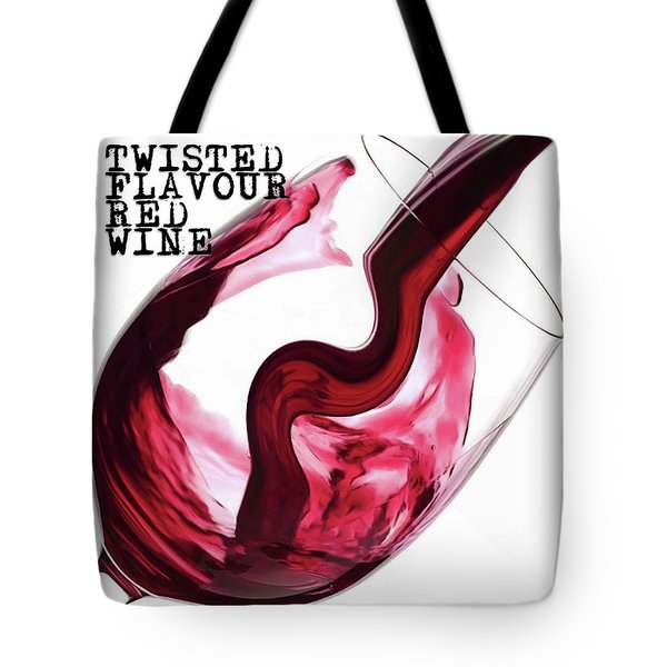 Twisted Flavour Red Wine Tote Bag