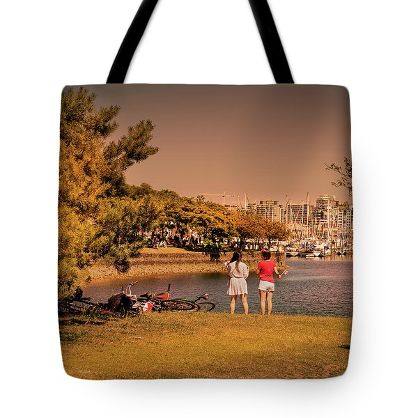 Tote Bag featuring the photograph Two Girls by Juan Contreras