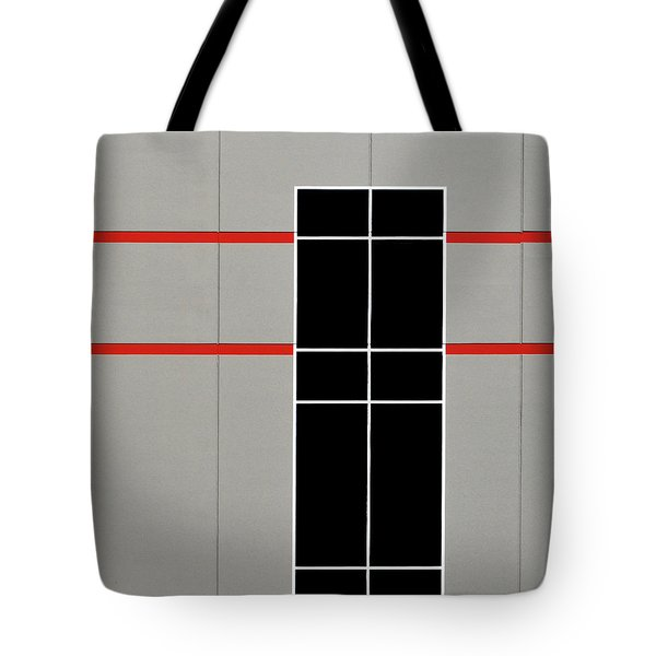 Two Red Stripes Tote Bag