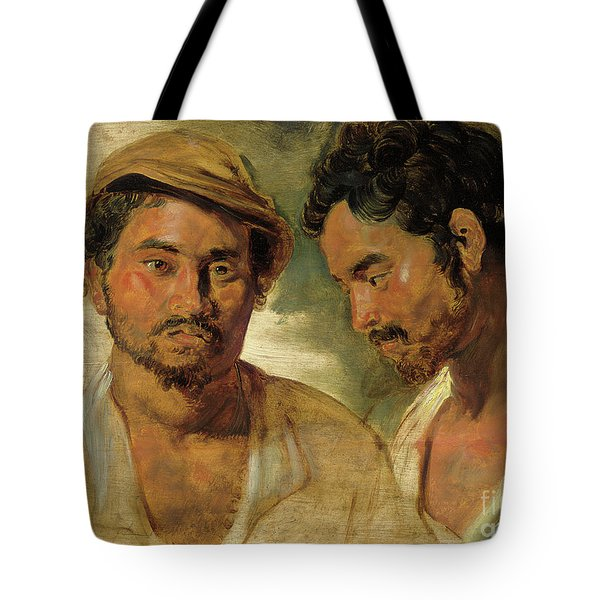 Two Studies Of A Man, Head And Shoulders Tote Bag