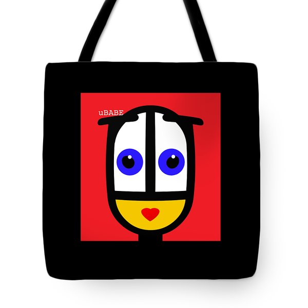 Ubabe Red Tote Bag
