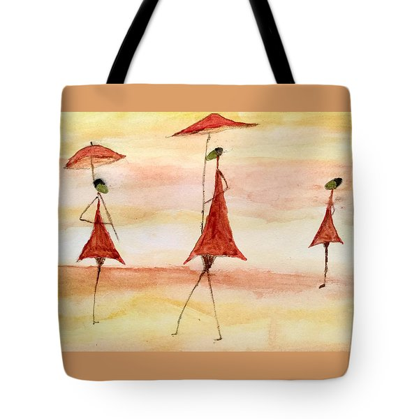 Umbrellas Tote Bag