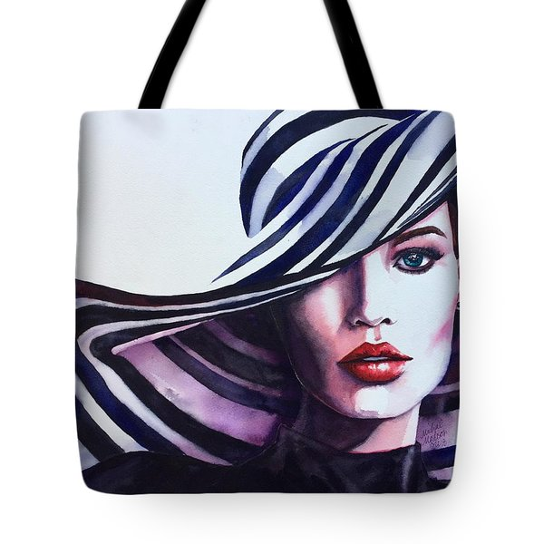 Tote Bag featuring the painting Unapologeticly Herself by Michal Madison
