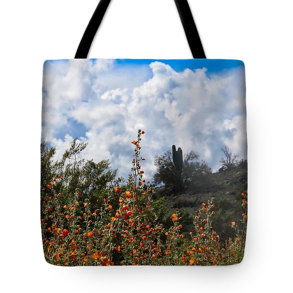 Under  A White Fluffy Cloud Tote Bag