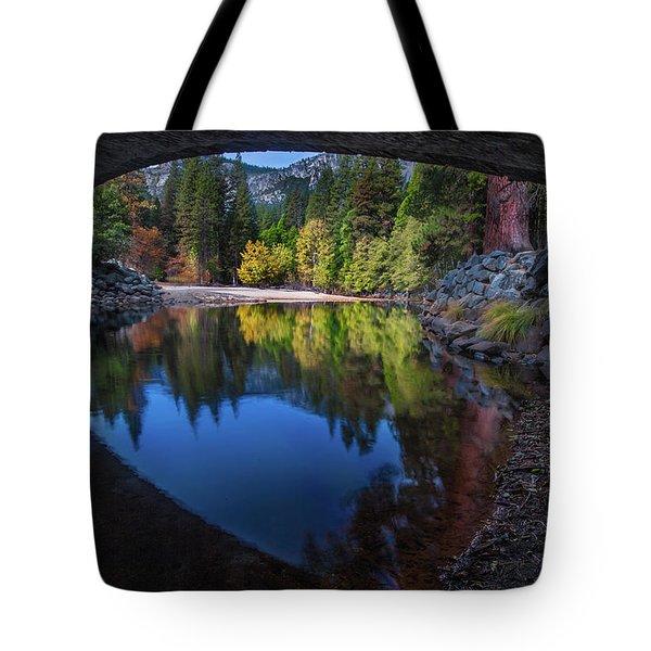 Under The Bridge In Yosemite Tote Bag