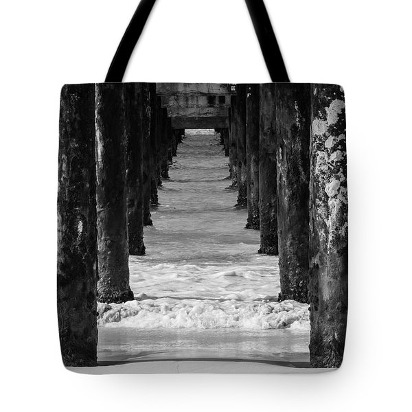 Under The Pier #2 Bw Tote Bag