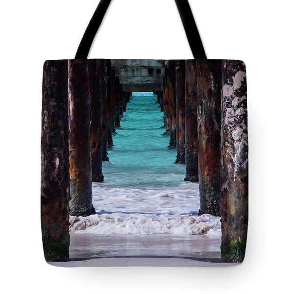 Under The Pier #3 Opf Tote Bag
