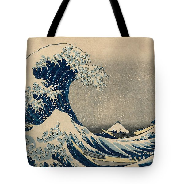 Under The Wave Off Kanagawa, Also Known As The Great Wave Tote Bag