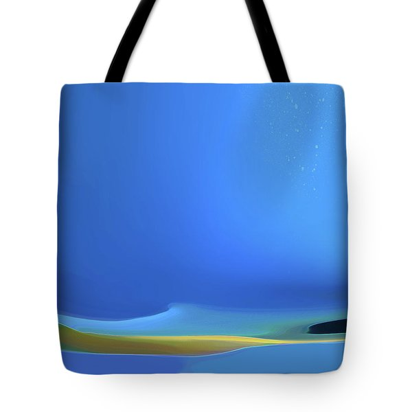 Tote Bag featuring the digital art Undercurrents by Gina Harrison