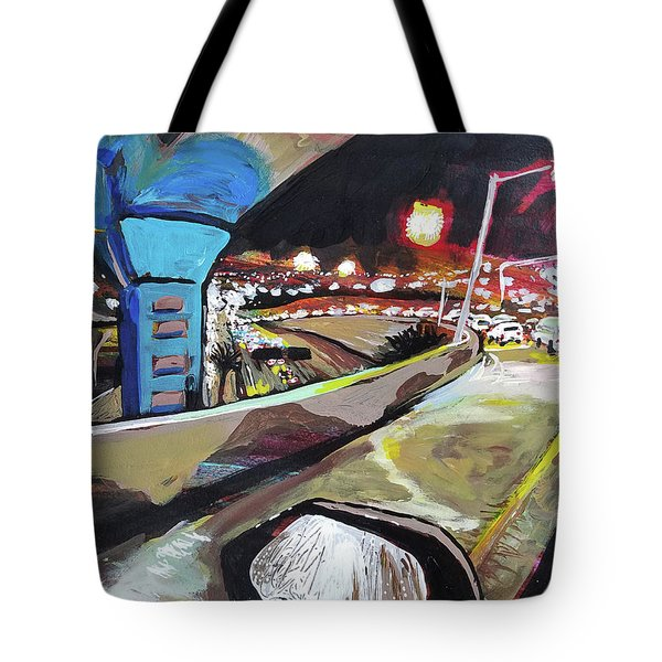 Underpass At Nighht Tote Bag