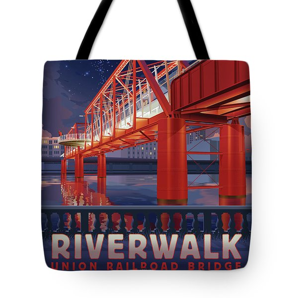 Union Railroad Bridge - Riverwalk Tote Bag