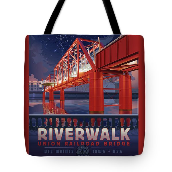 Union Railroad Bridge - Riverwalk Tote Bag