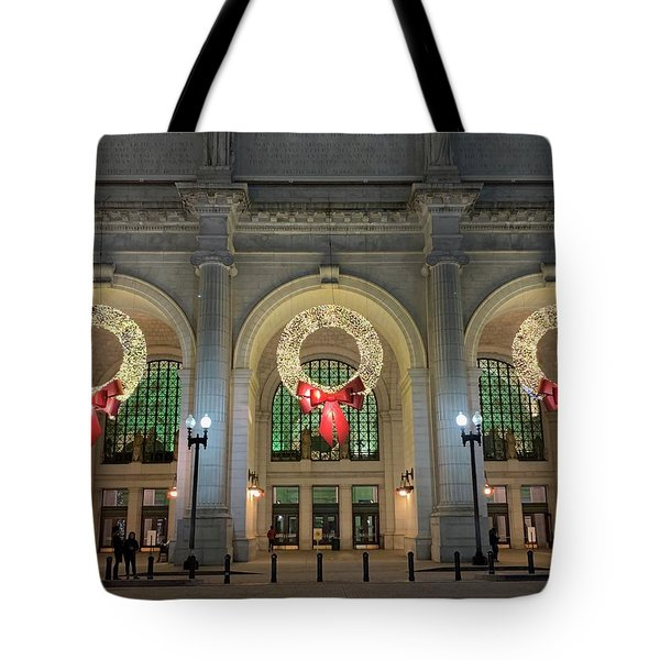 Union Station Holiday Tote Bag