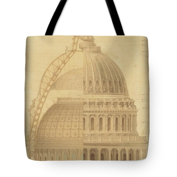 United States Capitol, Section Of Dome, 1855 Tote Bag