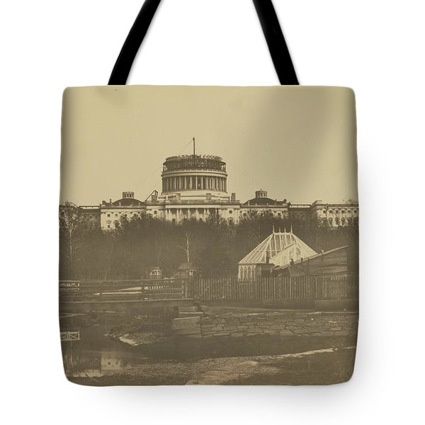 United States Capitol Under Construction Tote Bag