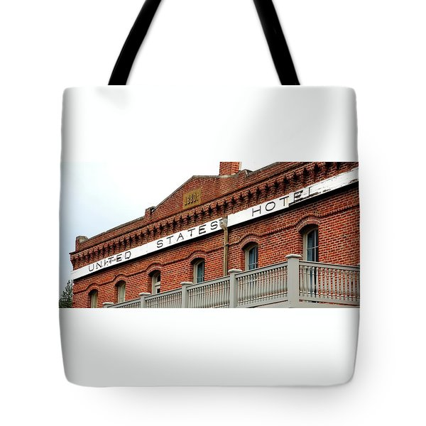 Tote Bag featuring the photograph United States Hotel by Jerry Sodorff