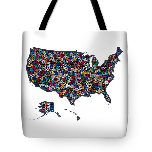 United States Map-1 Tote Bag