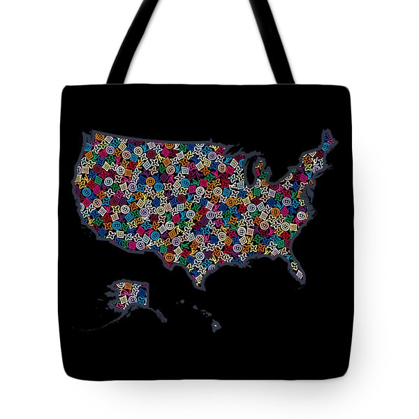 United States Map-2 Tote Bag