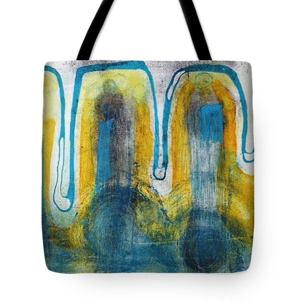 Tote Bag featuring the painting Untitled2 by 'REA' Gallery