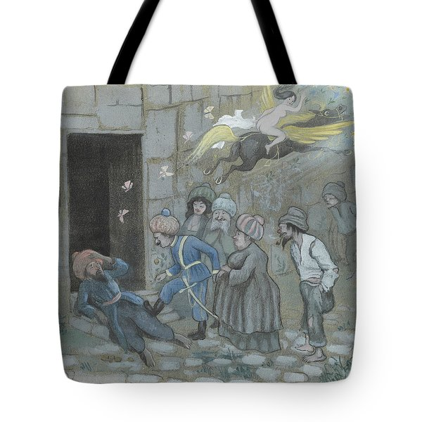 Tote Bag featuring the drawing Up With You Your Trashank - The Police Awaken The Omnid Ben Oni by Ivar Arosenius