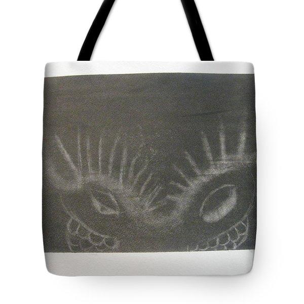 Upper Dragon Face Tote Bag