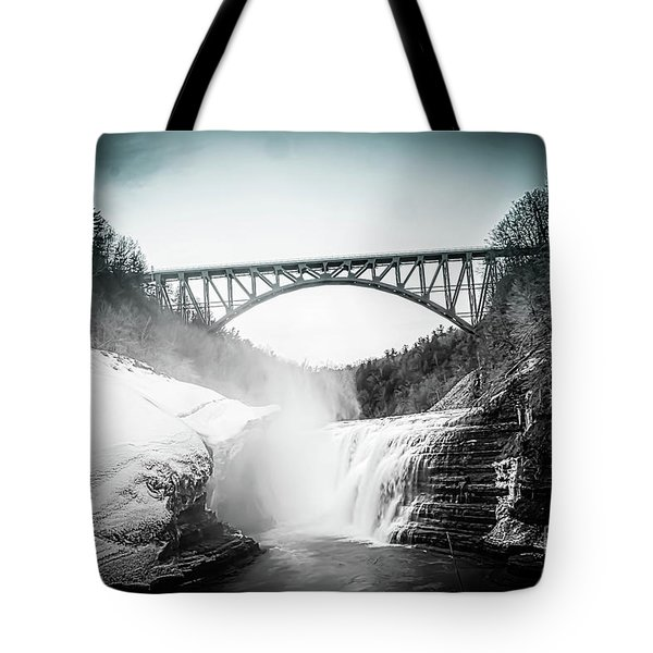 Upper Falls At Letchworth State Park Tote Bag