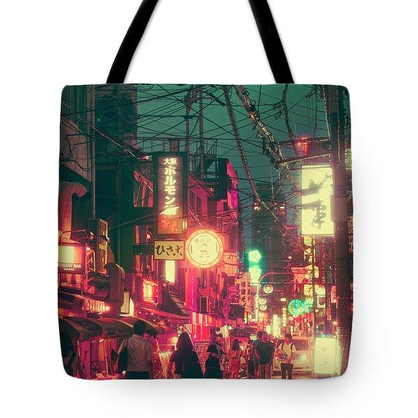 Ura Namba Street Nightlife Osaka Japan Tote Bag