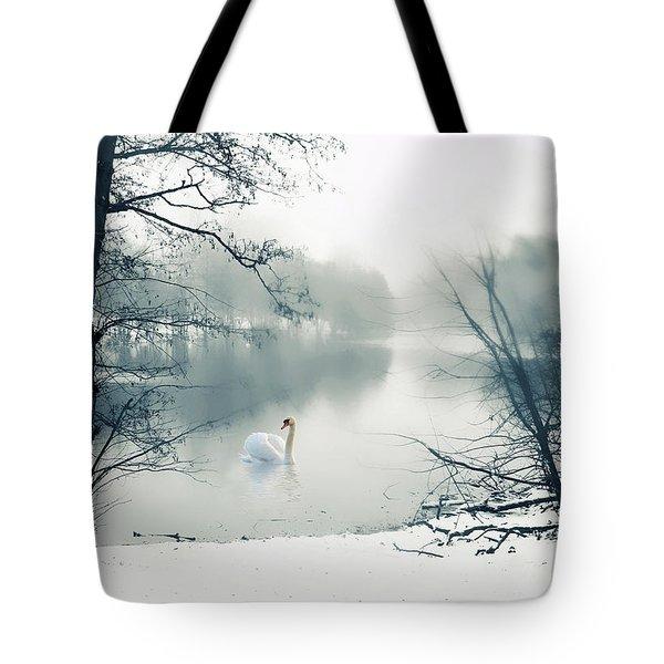 Swan Song Blue Tote Bag