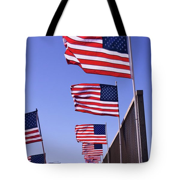 U.s. Flags, Presidents Day, Central Valley, California Tote Bag