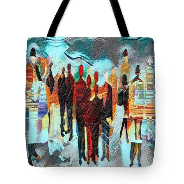 Tote Bag featuring the digital art Us by Pennie McCracken