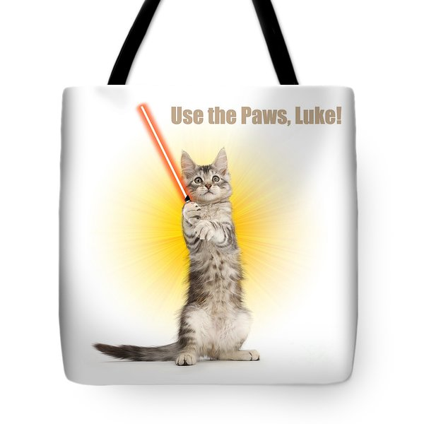 Tote Bag featuring the photograph Use The Paws, Luke by Warren Photographic