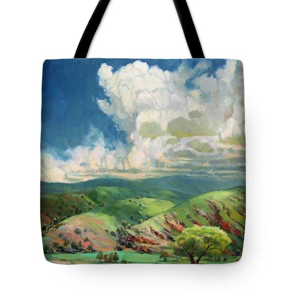 Tote Bag featuring the painting Utah Spring by Steve Henderson