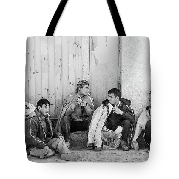 Tote Bag featuring the photograph Uzbek Day Laborers by SR Green