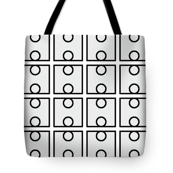 V - Circuare Monochrome - 016 Tote Bag