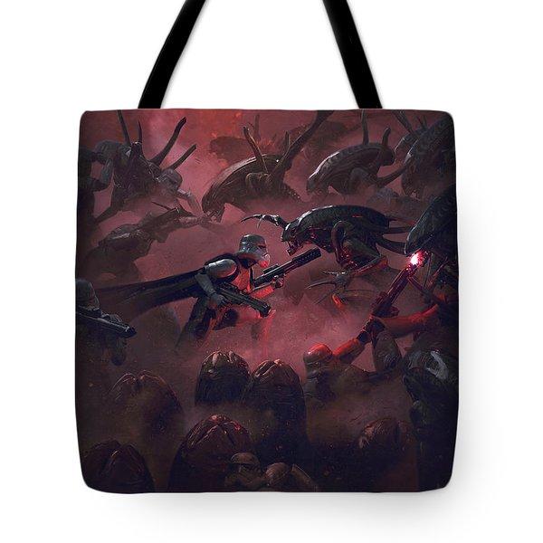 Vader Vs Aliens 5 Tote Bag