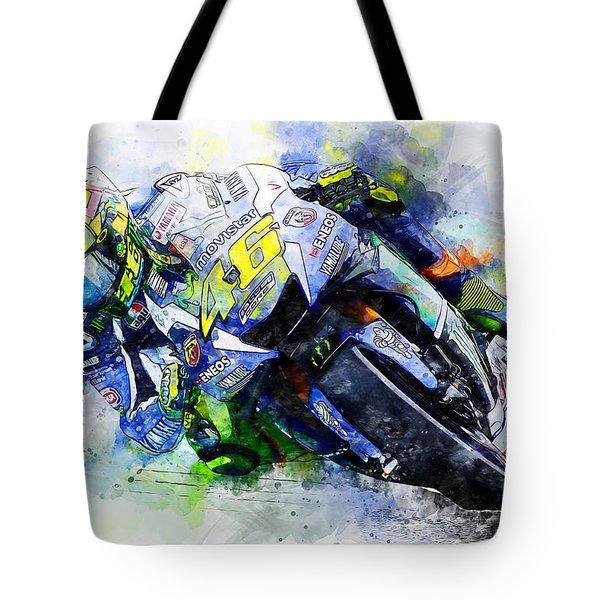 Valentino Rossi - 20 Tote Bag