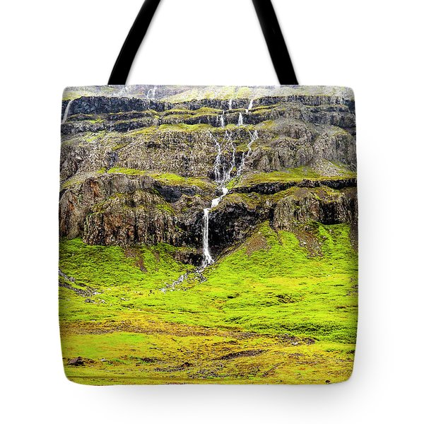 Tote Bag featuring the photograph Valley Cascades - Iceland by Marla Craven