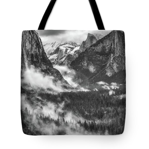 Tote Bag featuring the photograph Valley Mist by Vincent Bonafede