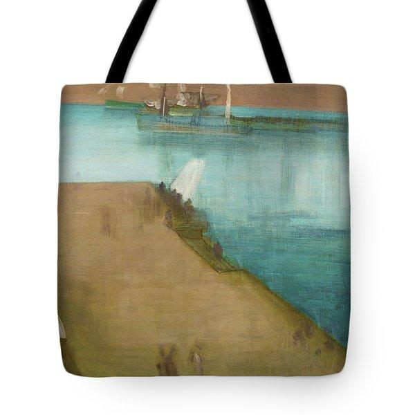 Valparaiso Harbor - Digital Remastered Edition Tote Bag