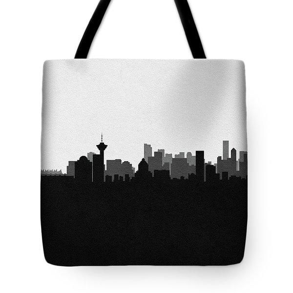Vancouver Cityscape Art Tote Bag